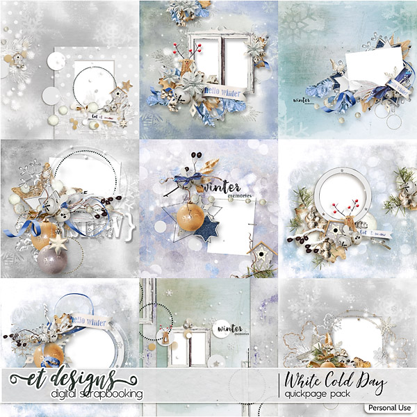 White Cold Day Quickpages by et designs