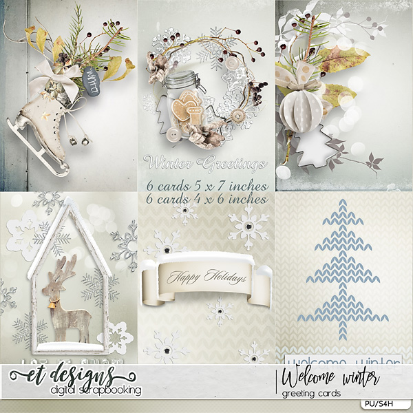 Welcome Winter Greeting Cards by et designs