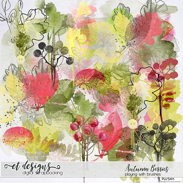 Autumn Berries Playing with Brushes