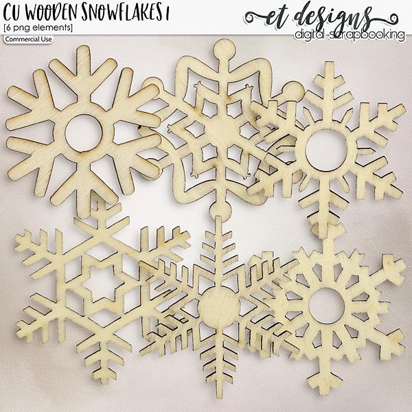 CU Wooden Snowflakes 1