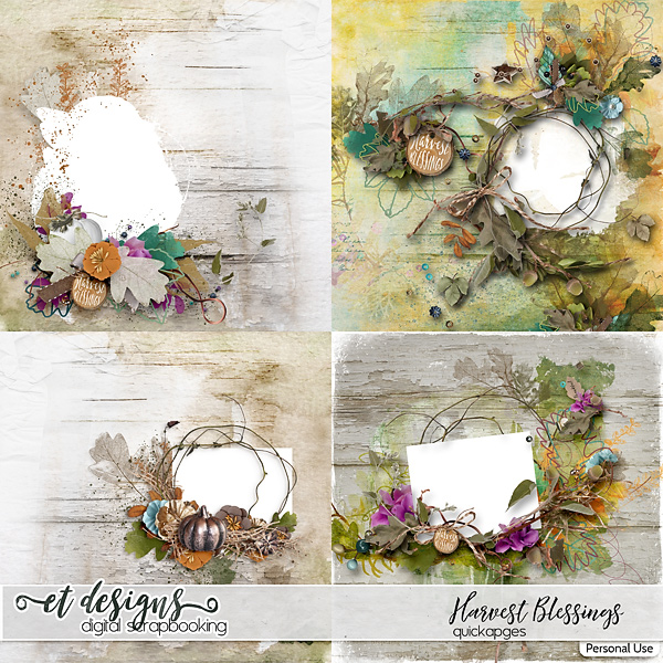 Harvest Blessings Quickpages