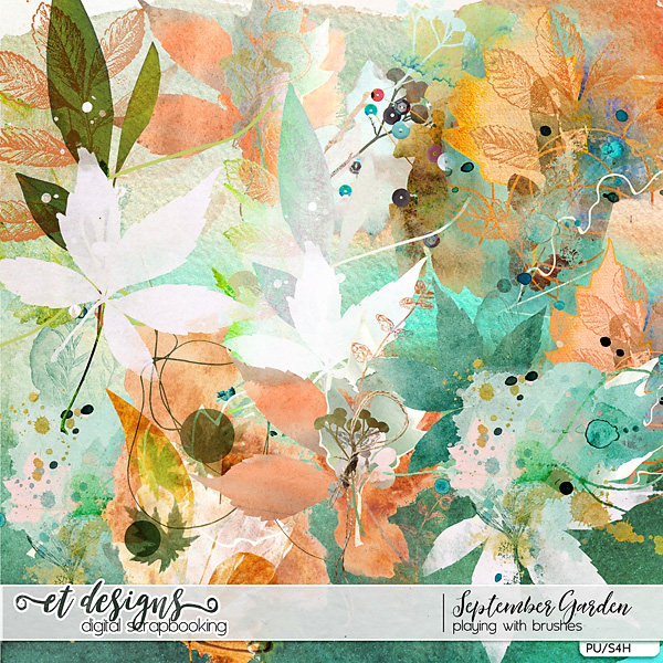 September Garden Playing with Brushes