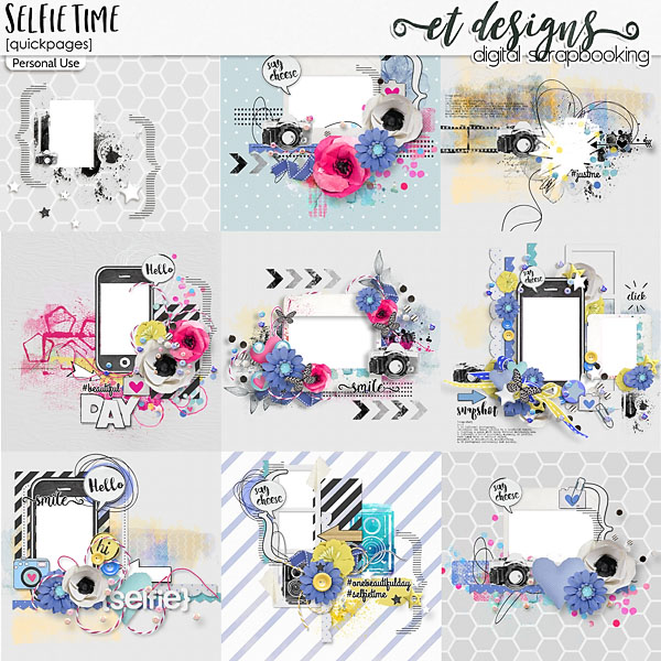 Selfie Time Quickpages by et designs