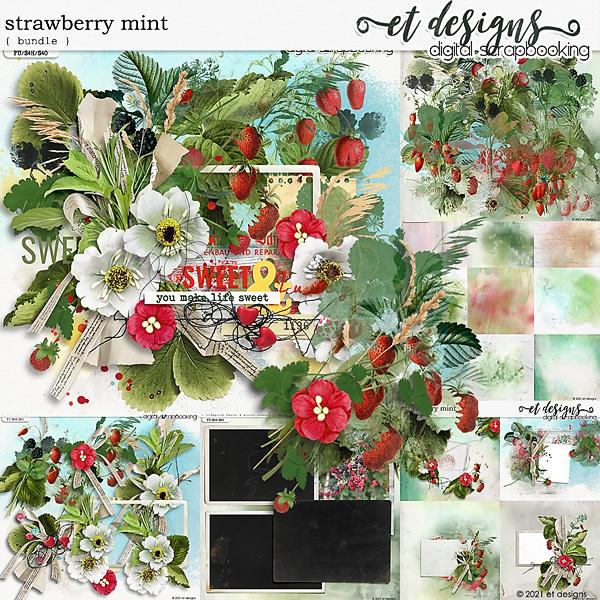 Strawberry Mint Bundle by et designs