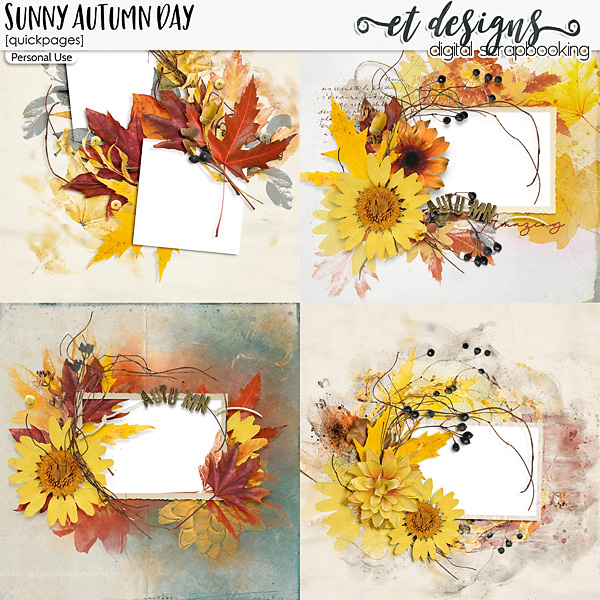 Sunny Autumn Day Quickpages
