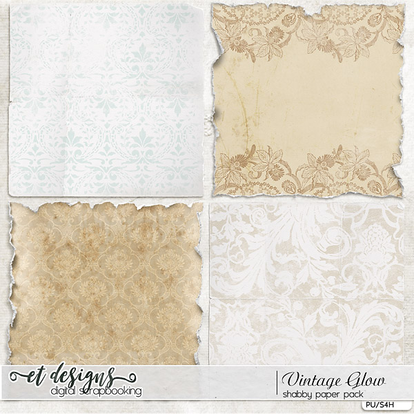 Vintage Glow Shabby Papers