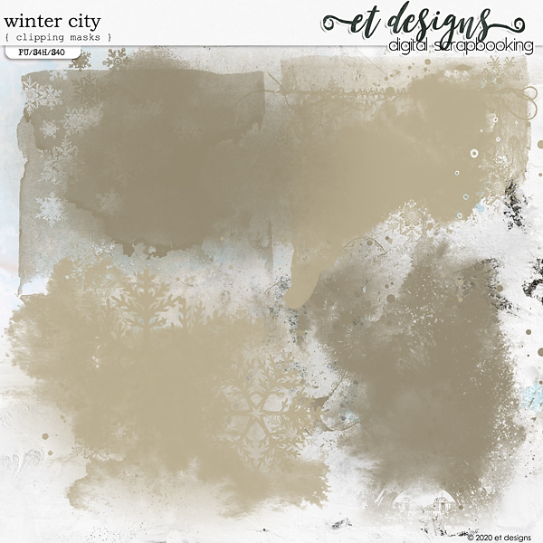 Winter City Clipping Masks