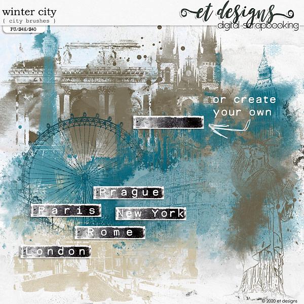 Winter City City Brushes