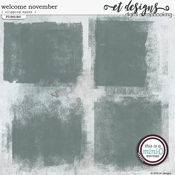 Welcome November Clipping Masks