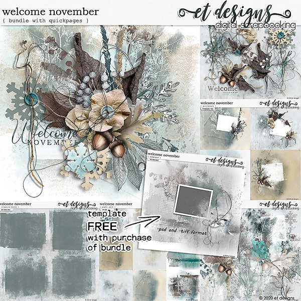 Welcome November Bundle plus Quickpages