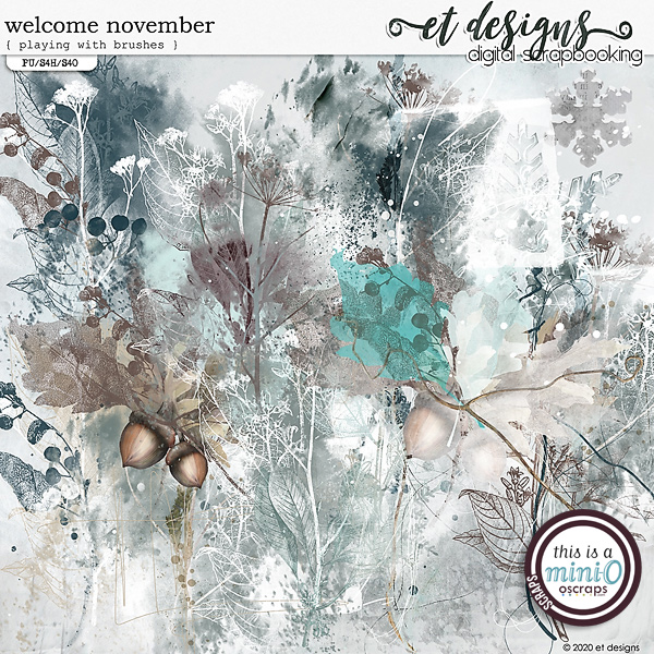 Welcome November Playing with Brushes