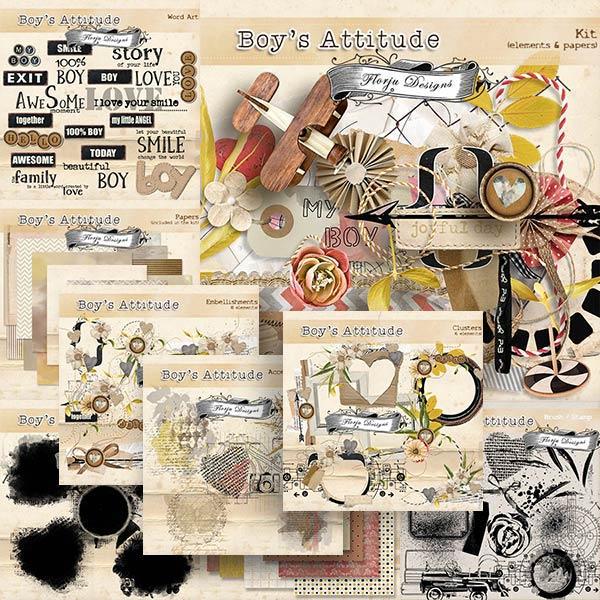 Boys Attitude { Bundle PU } by Florju Designs