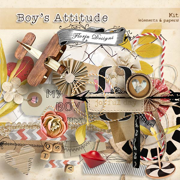 Boys Attitude { Kit PU } by Florju Designs