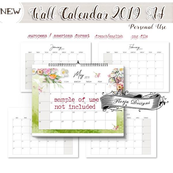 Calendar 2019 DIY : Wall Calendar