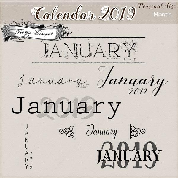 Calendar 2019 DIY { Month PU } by Florju Designs