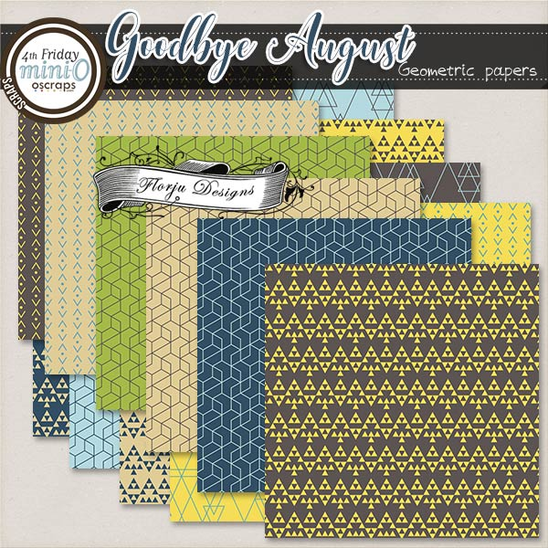 Goodbye August { Geometric papers PU } by Florju Designs