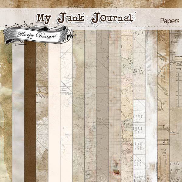 My Junk Journal [ Papers PU ] by Florju Designs