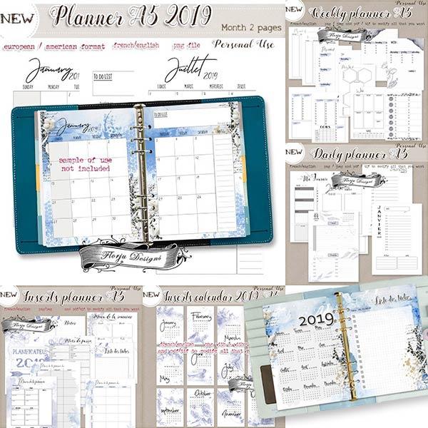 Planner Addict A5 { Bundle PU } by Florju Designs
