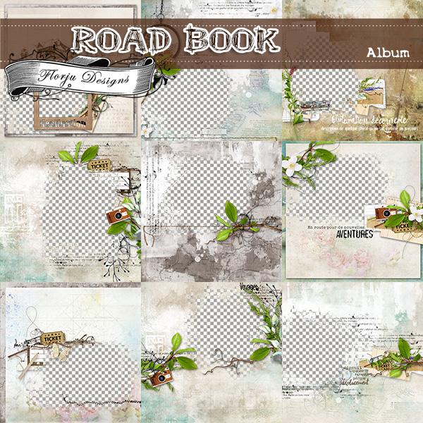 Road Book [ Album PU ] by Florju Designs