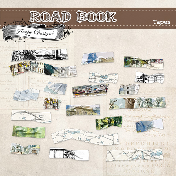 Road Book [ Tapes PU ] by Florju Designs