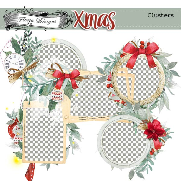 Xmas Clusters PU by Florju Designs