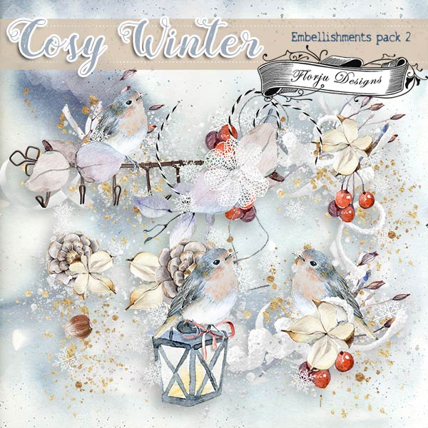 Cosy Winter { Embellishment Pack 2 PU } by Florju Designs