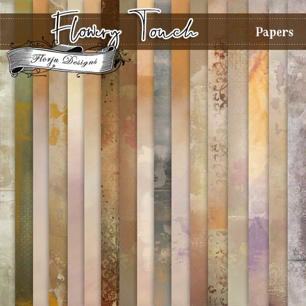 Flowery Touch [ Papers of the kit PU ] by Florju Designs