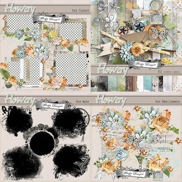 Flowery { Bundle PU } by Florju Designs