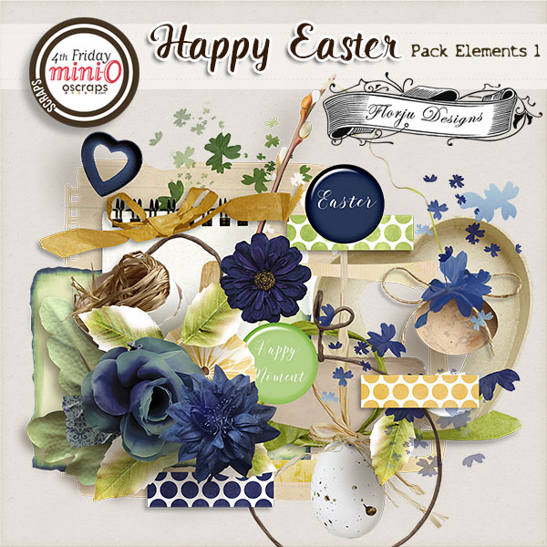 Happy Easter { Elements pack 1 PU } by Florju Designs