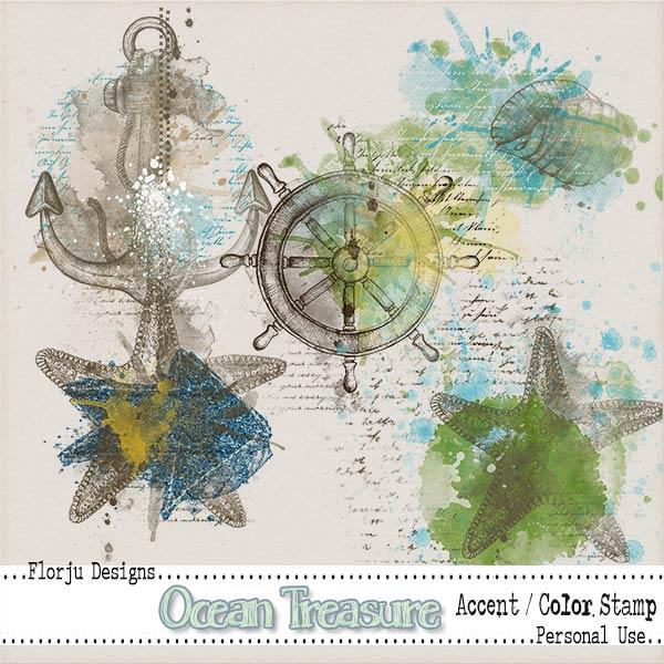 Ocean Treasure { Accent PU } by Florju Designs