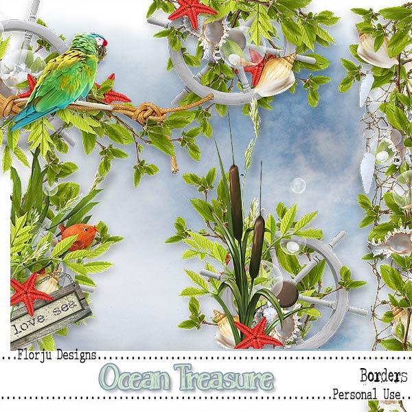 Ocean Treasure { Borders PU } by Florju Designs