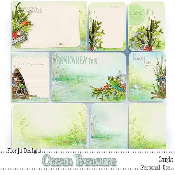 Ocean Treasure { Journal Card PU } by Florju Designs