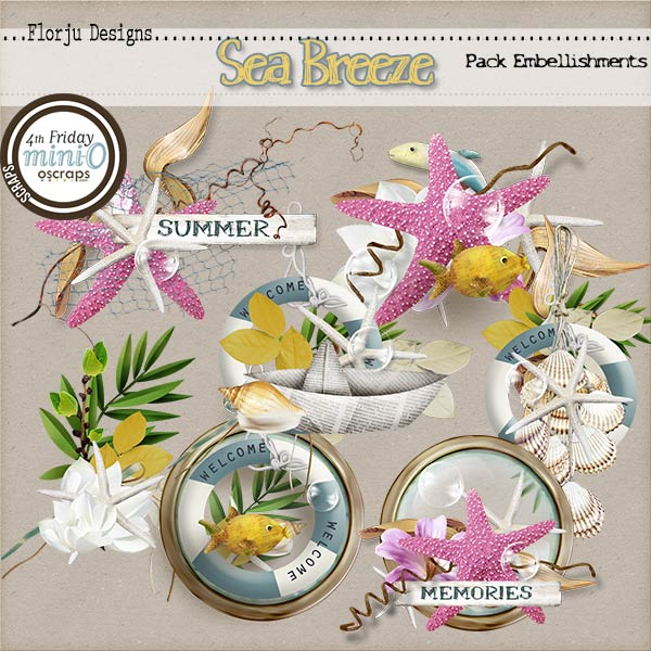 Sea Breeze { Embellishment PU } by Florju Designs