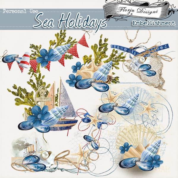 Sea Holidays { Embellishments PU } by Florju Designs