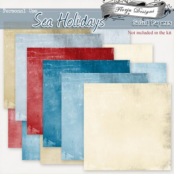 Sea Holidays { Solid Papers PU } by Florju Designs