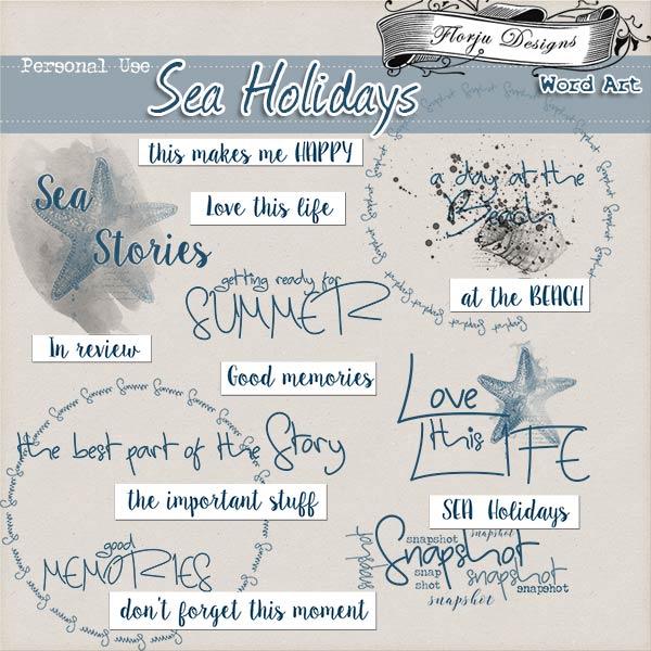 Sea Holidays { Word Art PU } by Florju Designs