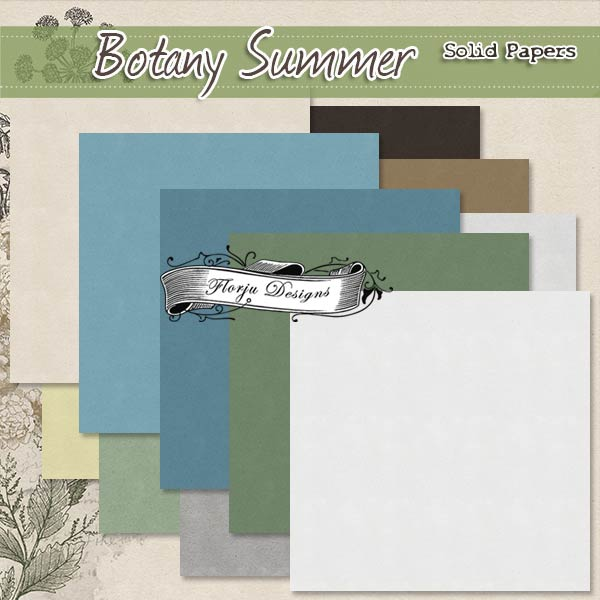 Botany Summer { Addon Papers PU } by Florju Designs