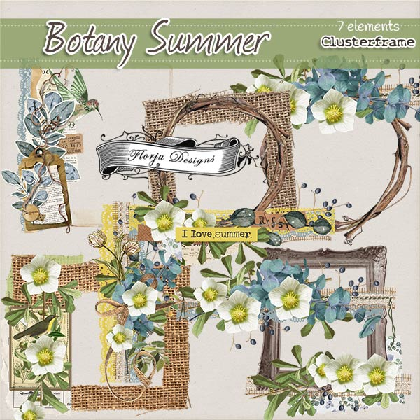Botany Summer { Cluster PU } by Florju Designs
