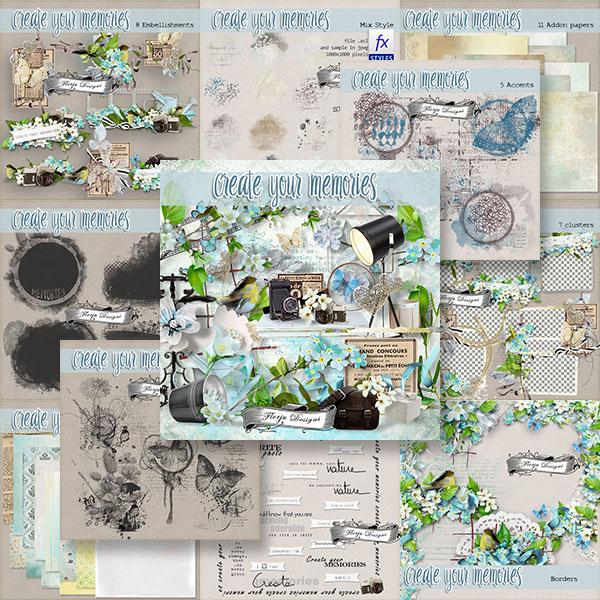 Create Your Memories  Bundle PU by Florju Designs