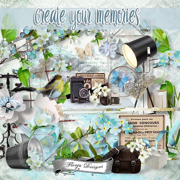 Create Your Memories  Kit PU by Florju Designs