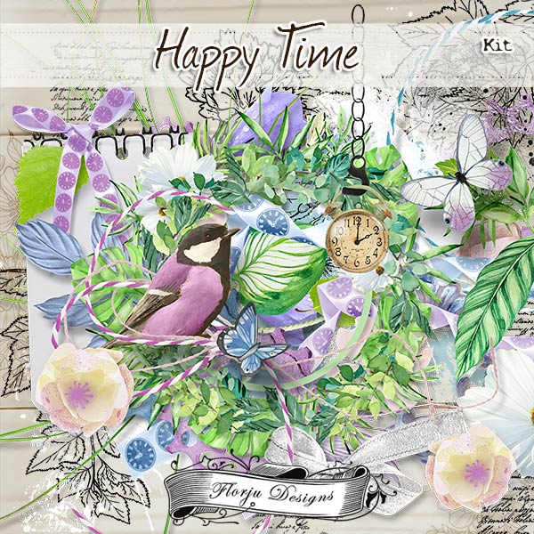 Happy Time { Kit PU } by Florju Designs
