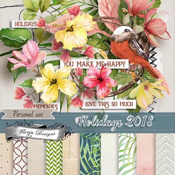 Holidays 2018 { Mini kit PU } by Florju Designs
