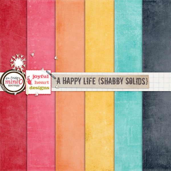 A Happy Life (shabby solids)