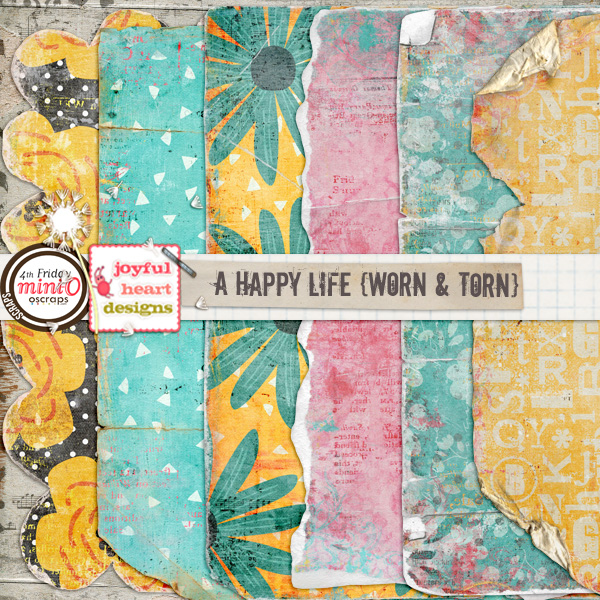 A Happy Life (worn and torn)