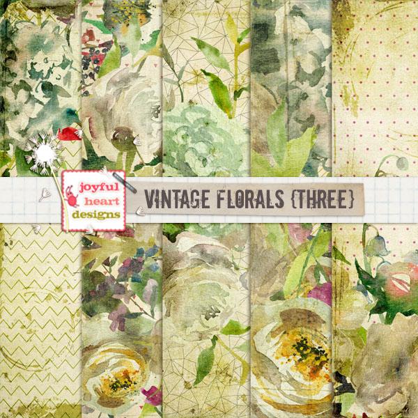 Vintage Florals (three)