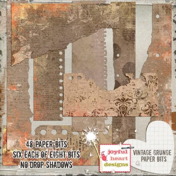 Vintage Grunge (paper bits)