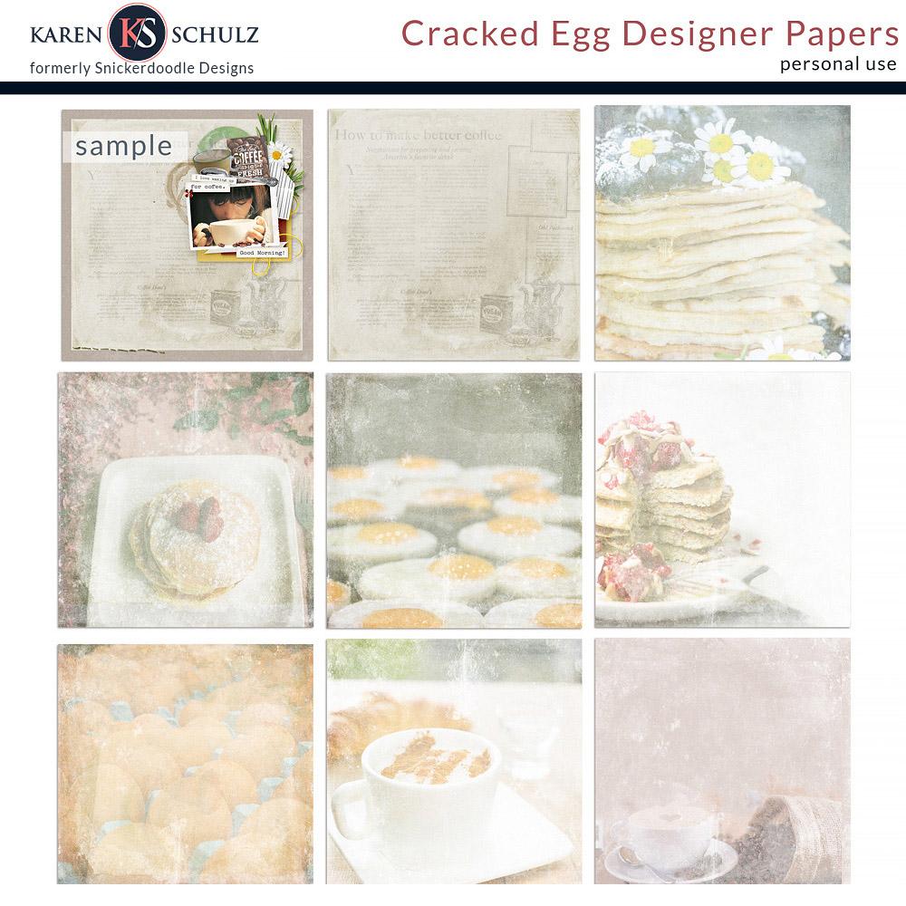 Cracked Egg Pocket Cards