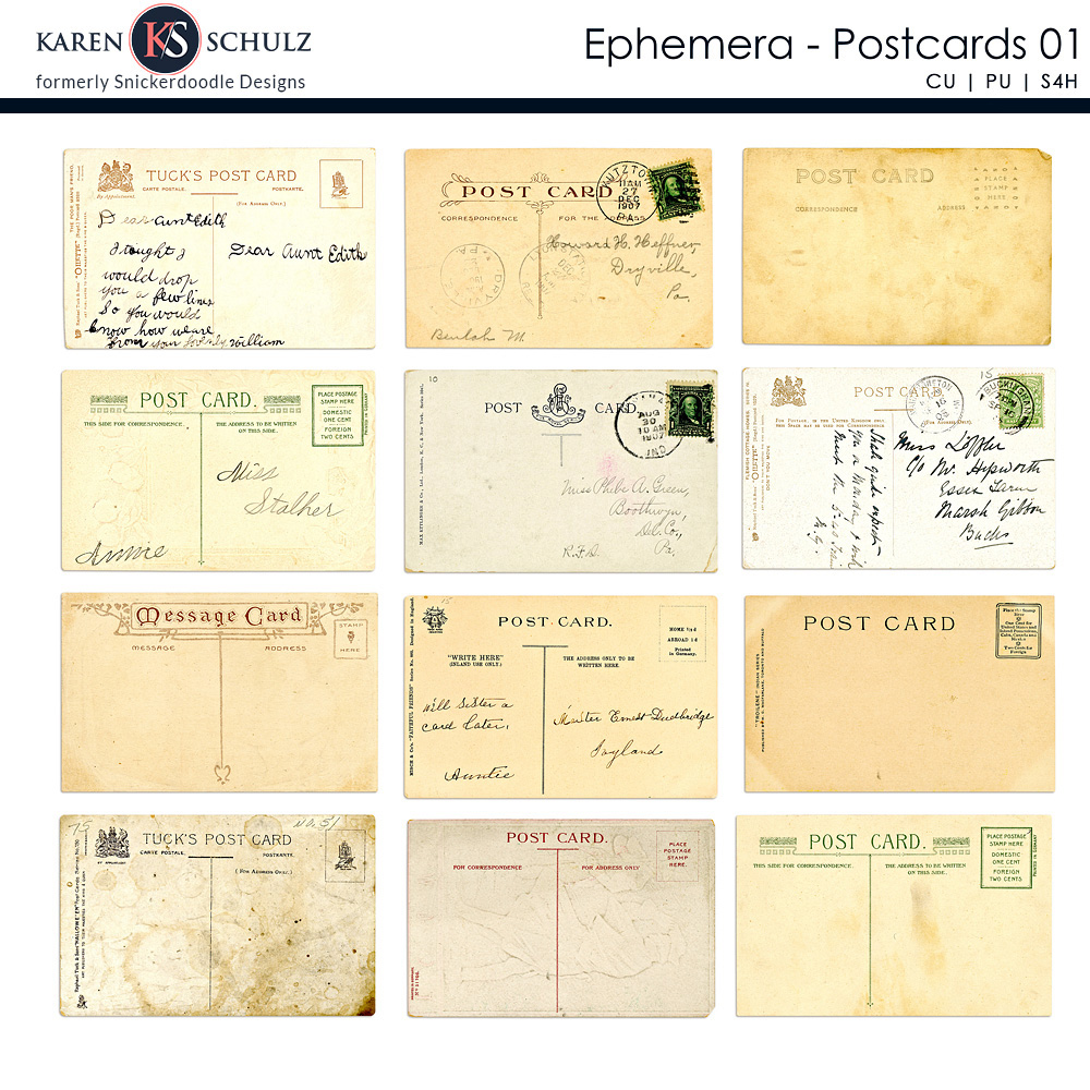 Ephemera Postcards 01