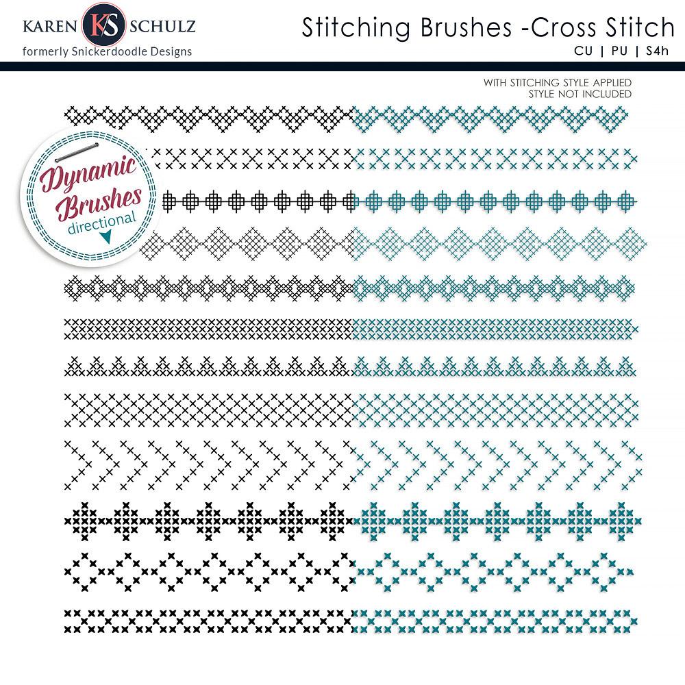Stitching Brushes Cross Stitch