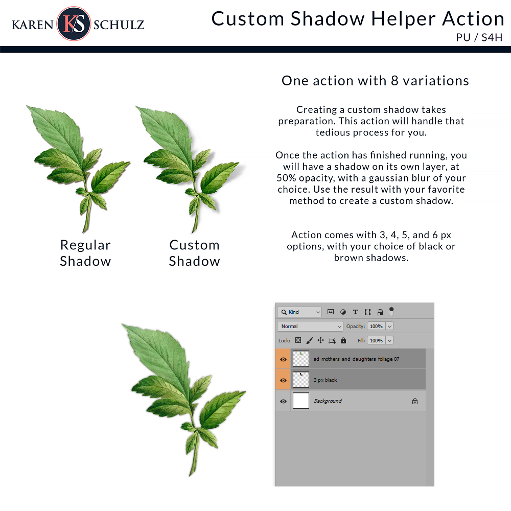 Custom Shadow Helper Action